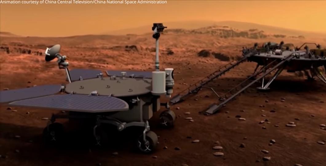 Zhurong буде займатися вивченням Марса протягом трьох місяців