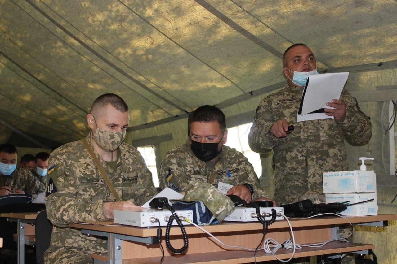 Офицеры планировали отражение воздушного нападения противника