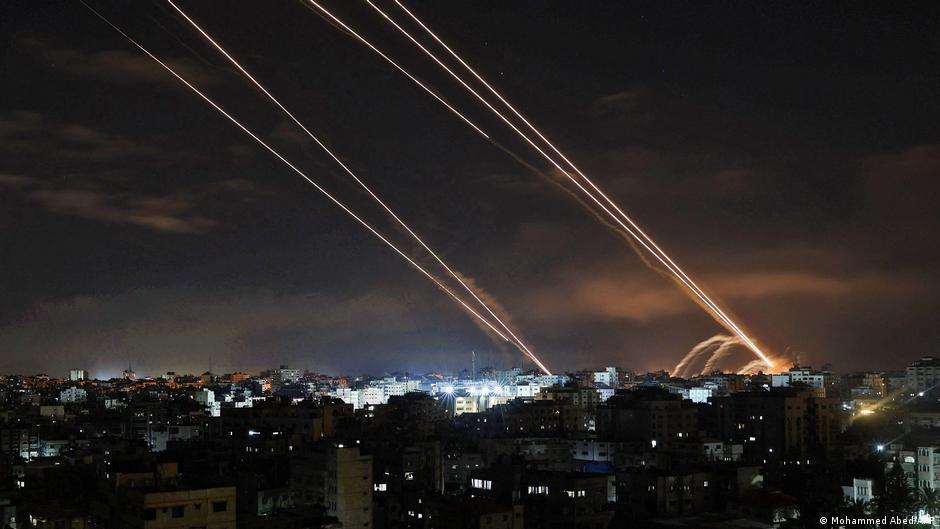 Ракети, запущені із Гази у бік Ізраїлю в ніч на 16 травня
