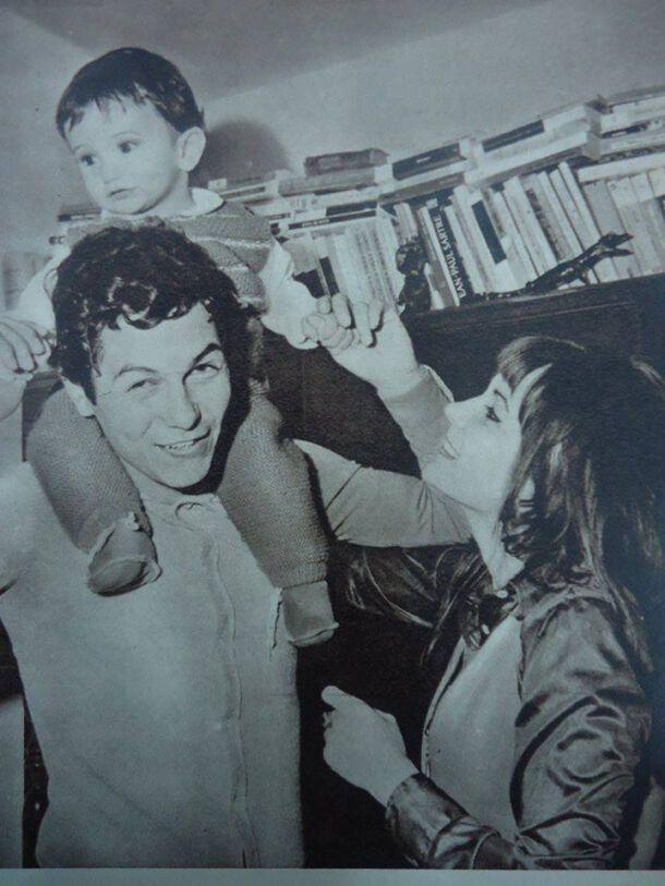 Мірча Луческу із сином (1971 рік)