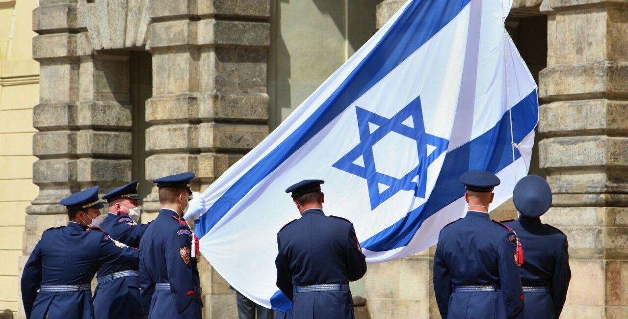 Израильский флаг подняли над Пражским Градом