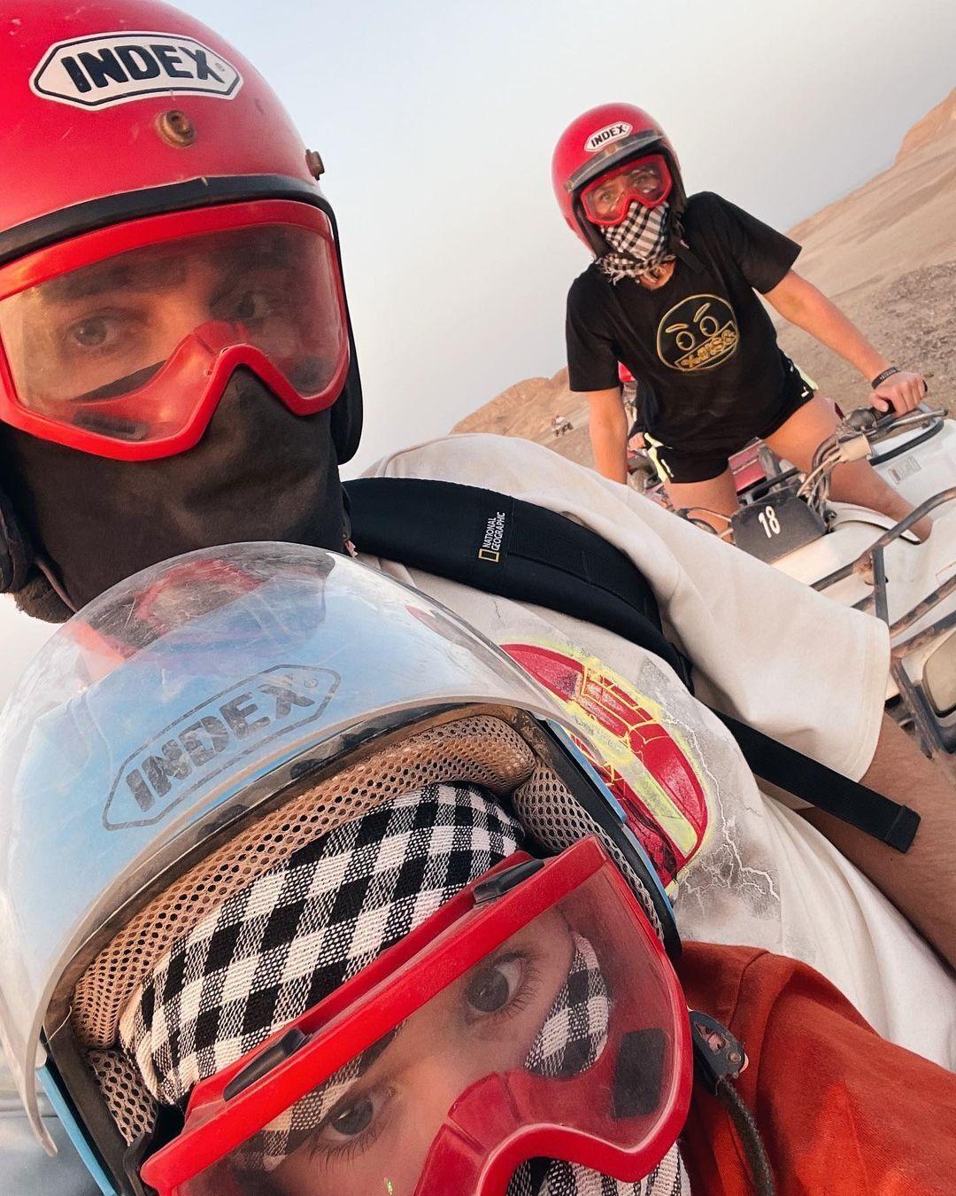 Юлия Санина на отдыхе в Египте с семьей