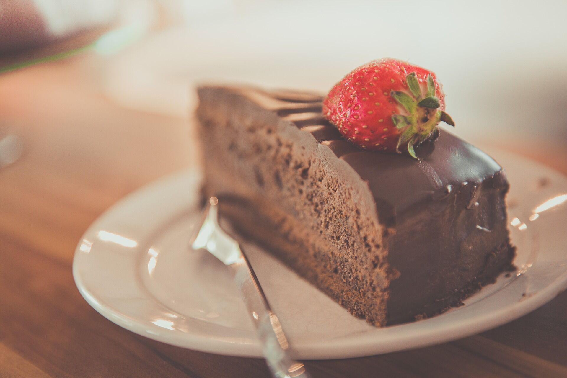 Шоколадно-ягодный пирог