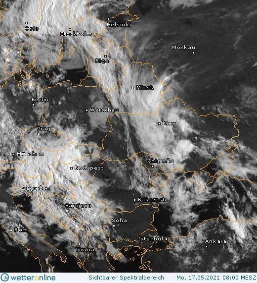 Хмарність над Україною 17 травня