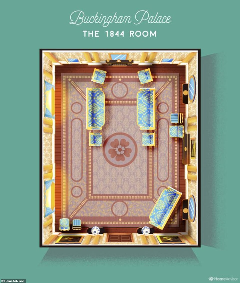 Внизу на первом этаже находится одна из самых важных комнат – комната 1844 года