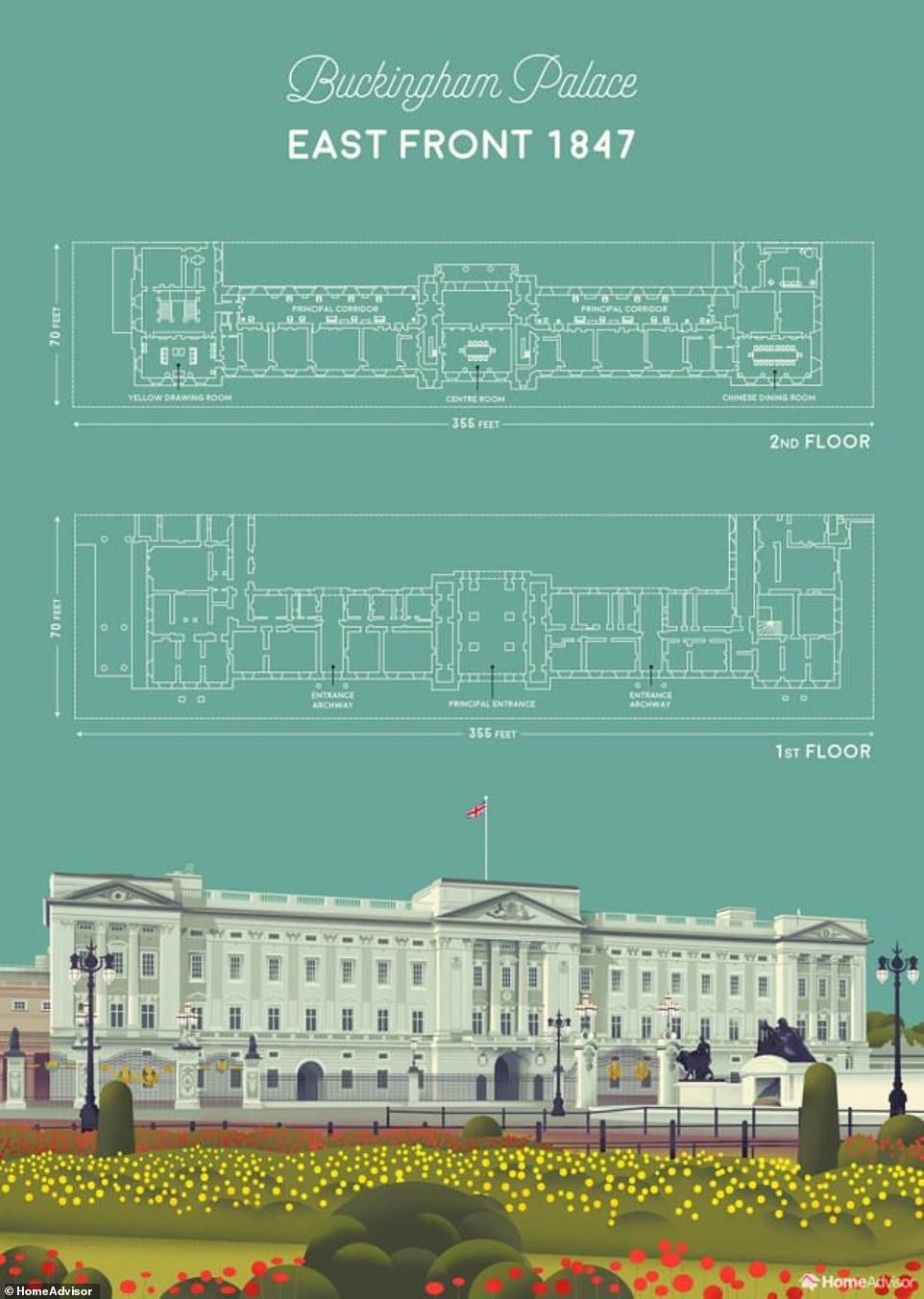 Также в королевском дворце есть комната с видом на сады