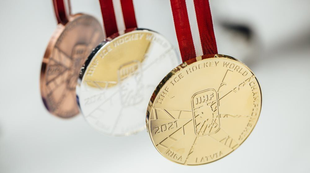 Медали чемпионата мира по хоккею.
