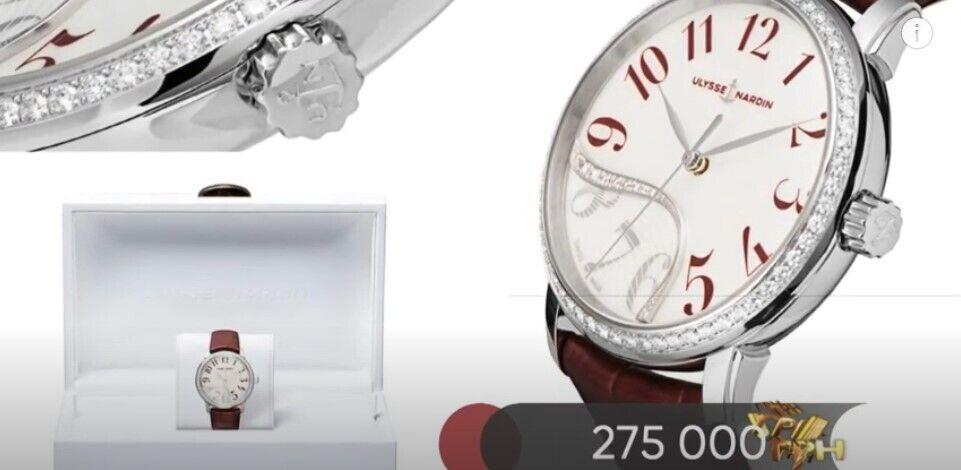 Аллахвердиева показала часы.