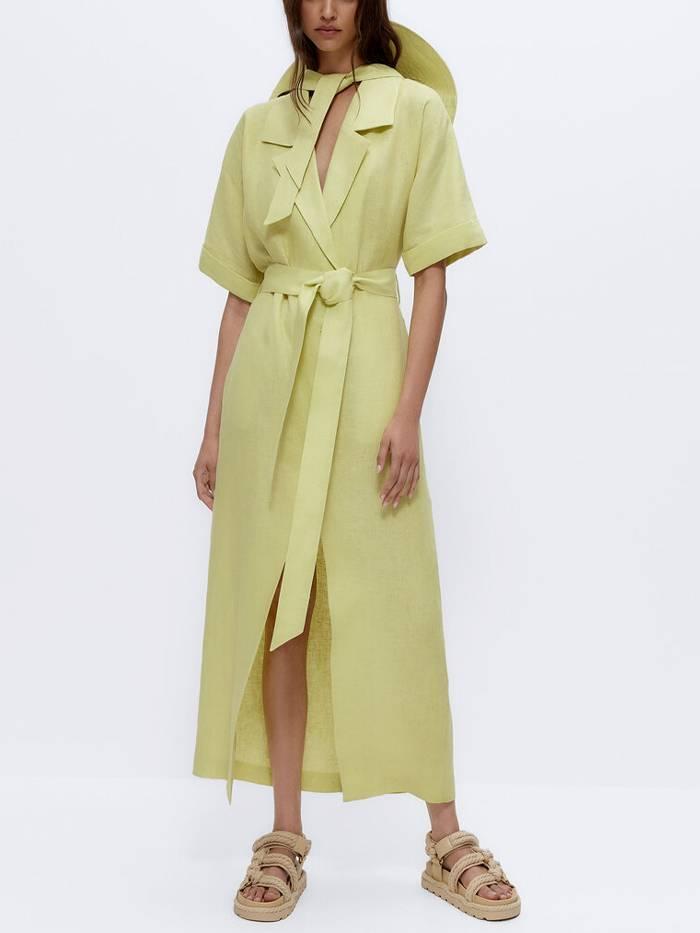 Идеальное зеленое летнее платье Uterque