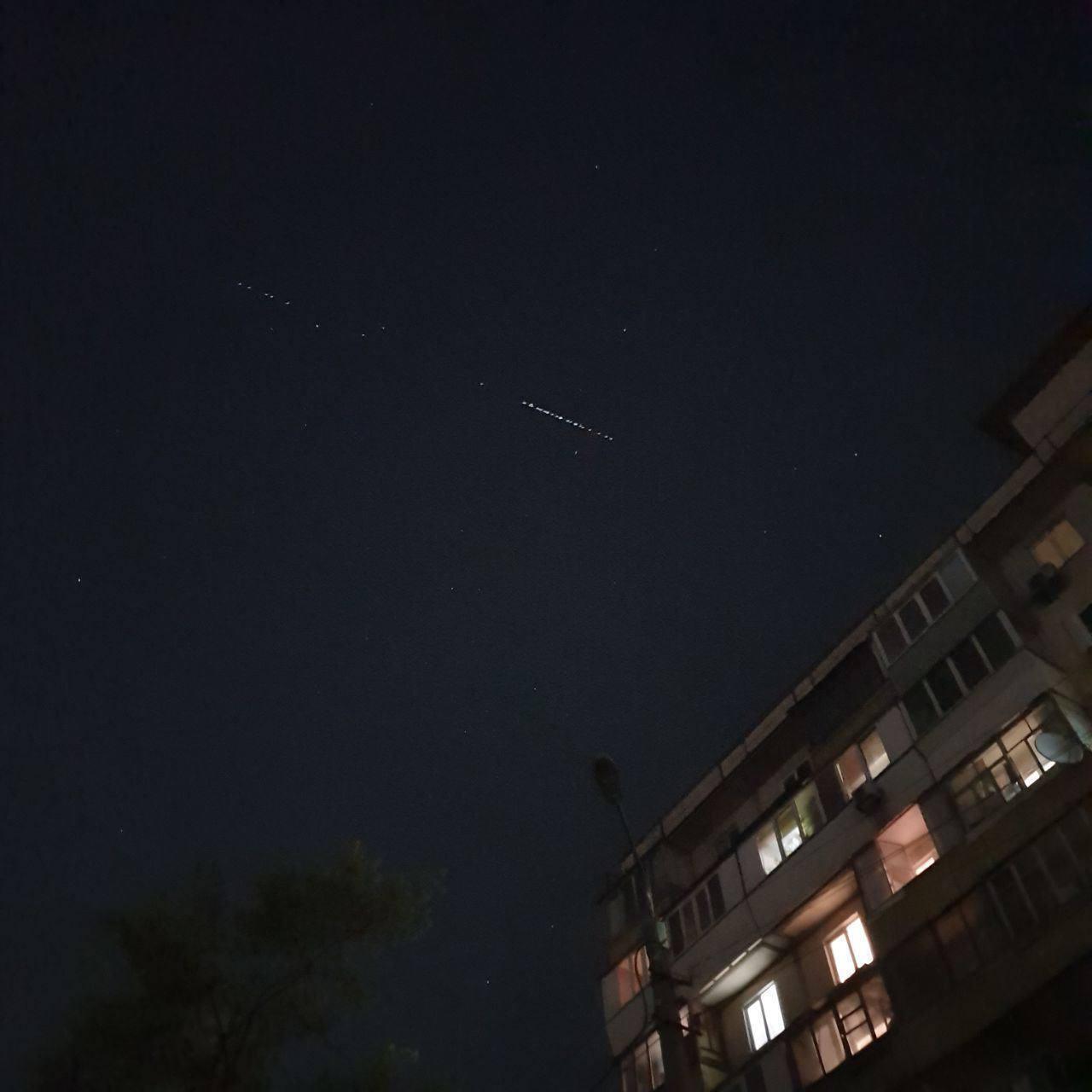 Спутники Starlink над Киевом