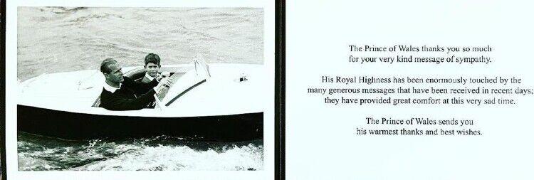 На другой стороне открытки были напечатаны слова благодарности от имени монарха