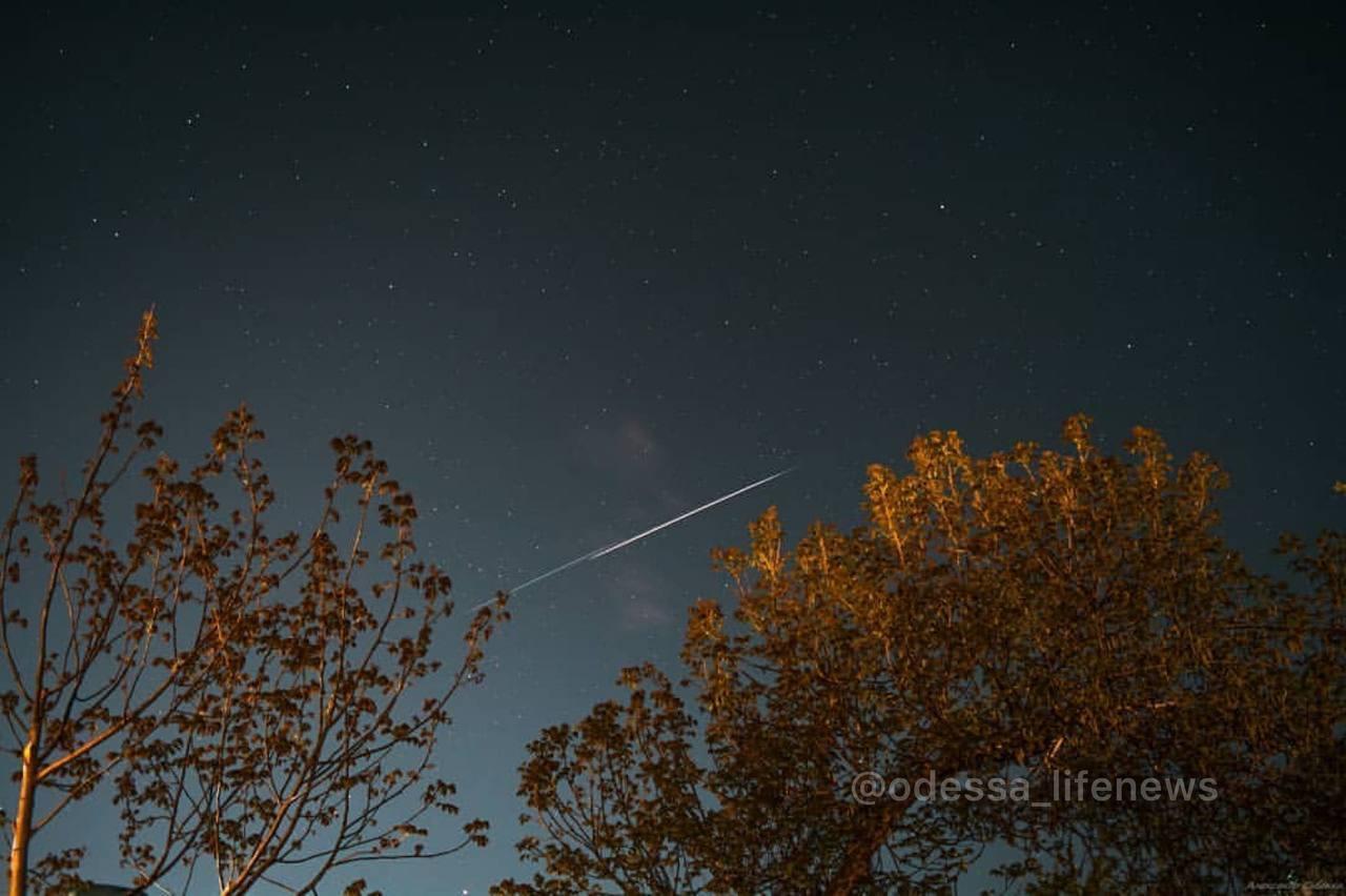 Спутники Starlink над Одессой
