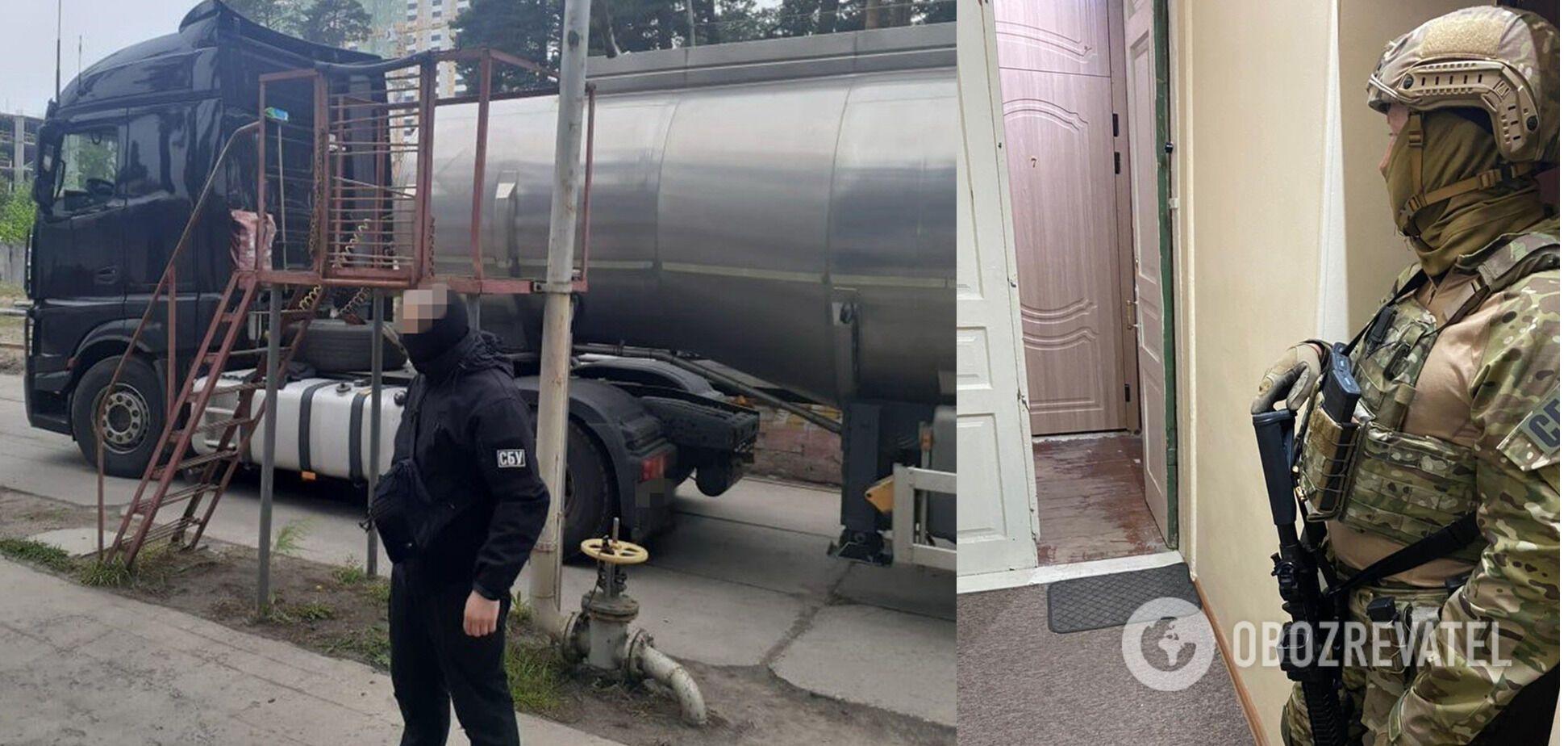 В СБУ объяснили, что их расследование касалось схемы контрабанды топлива из РФ и Беларуси