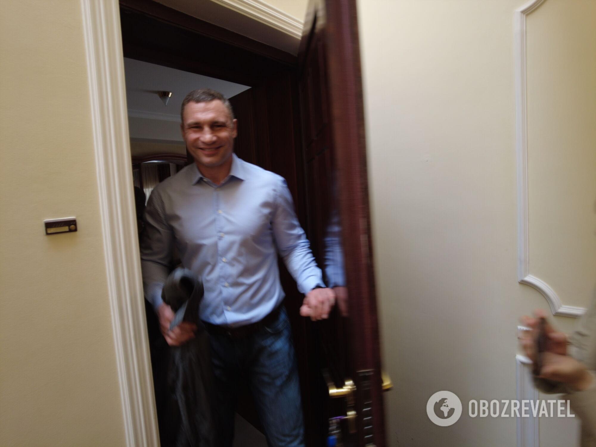 Мэр Киева Виталий Кличко заявил, что изначально бойцы СБУ поднялись на его этаж