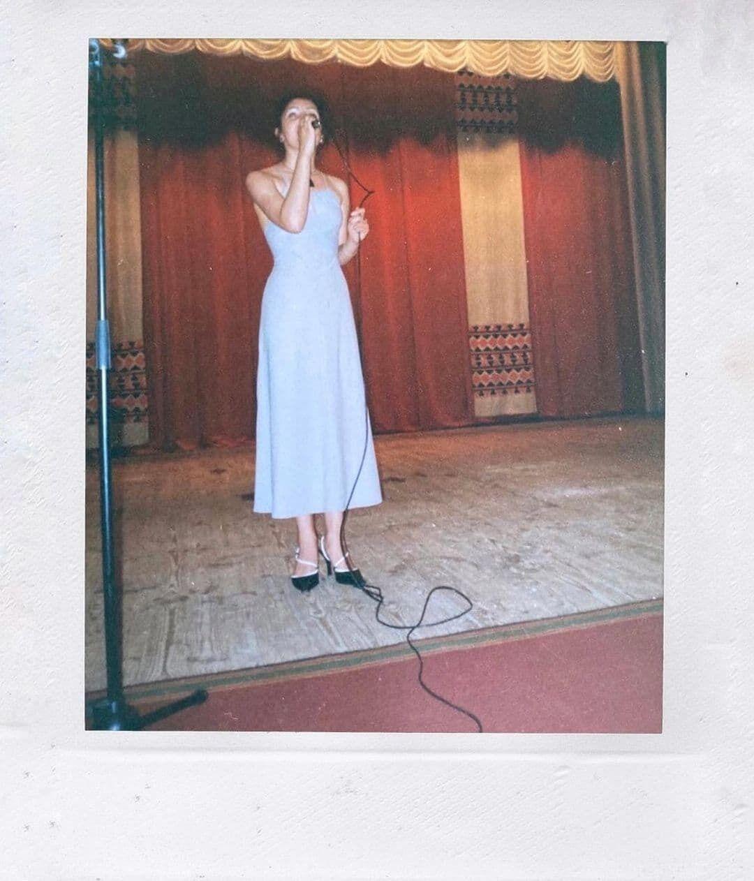 Цибульська показала архівне фото.
