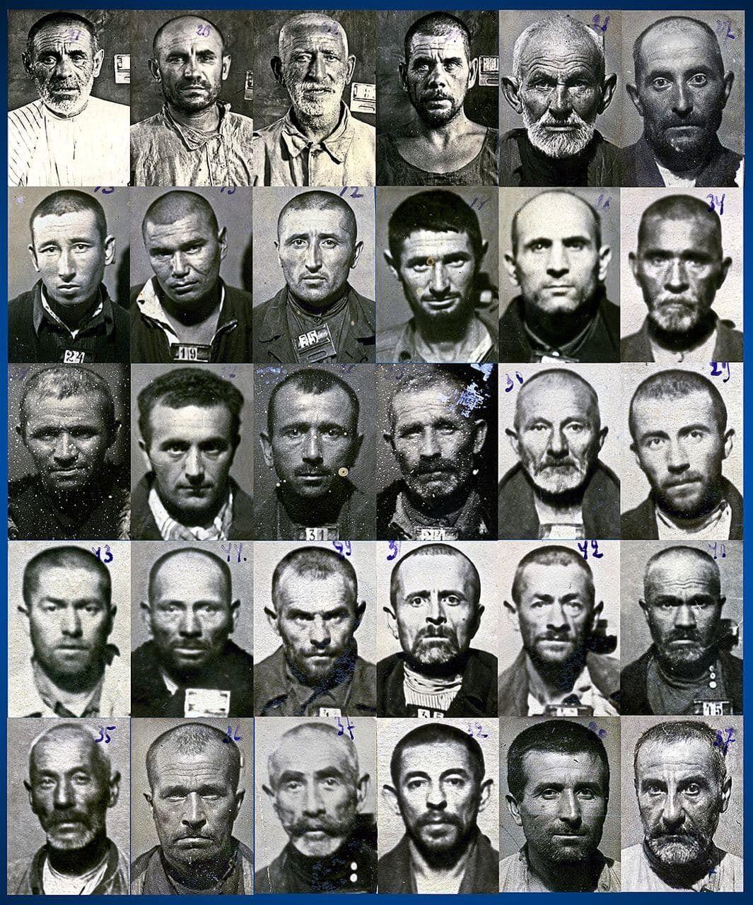 Фото расстрелянных в 30-х годах крымских татар.