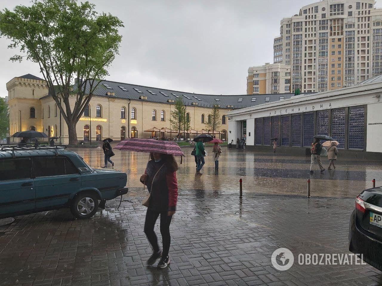 Місто накрили потужні зливи.