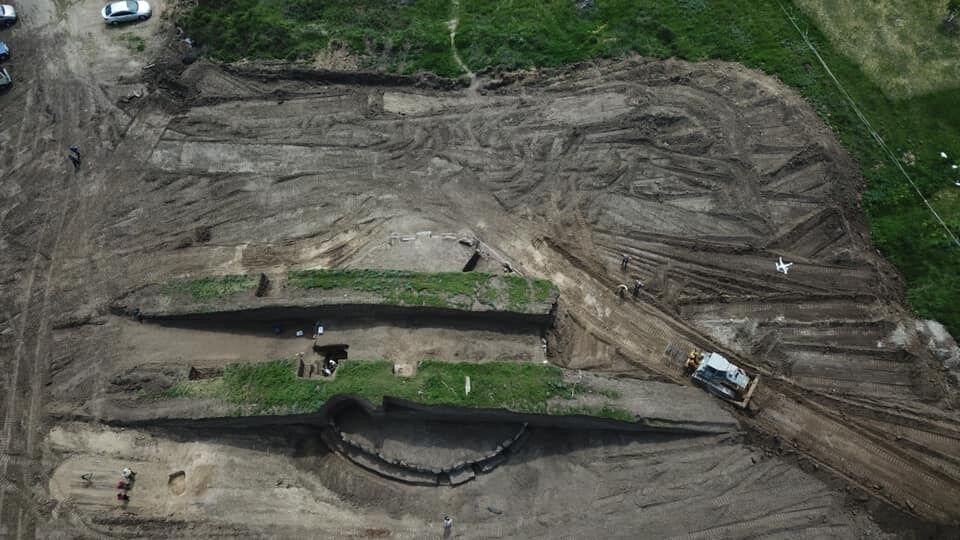 Археологи відшукали майже восьмиметровий курган бронзового століття під Дніпром