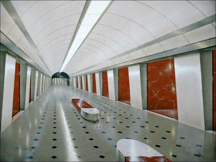 Один из вариантов оформления станции.