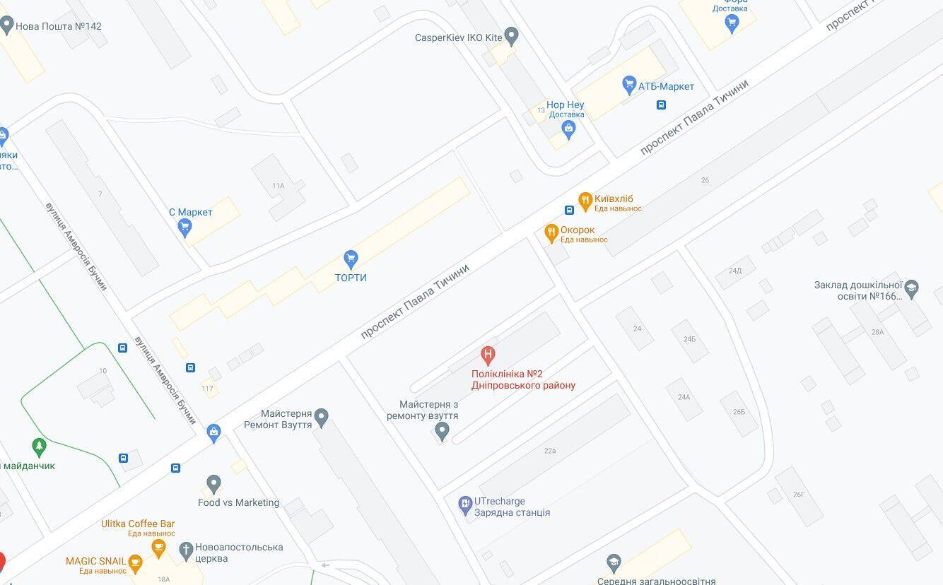 Авария произошла на проспекте Павла Тычины.