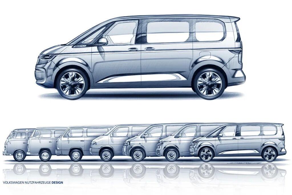 Эскиз нового Multivan T7