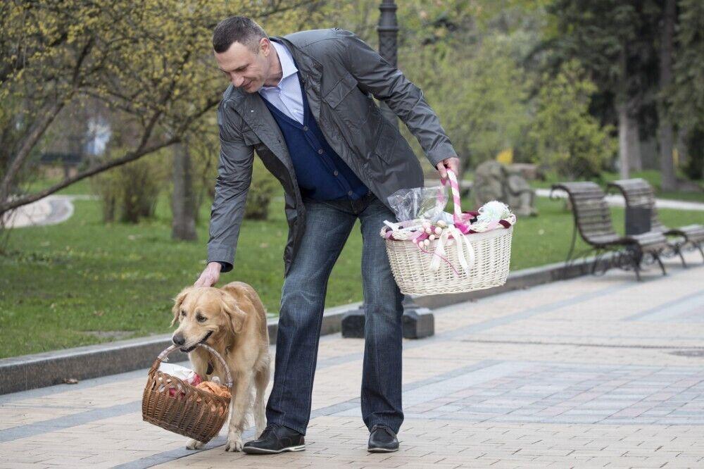 Мэр Киева с собачкой