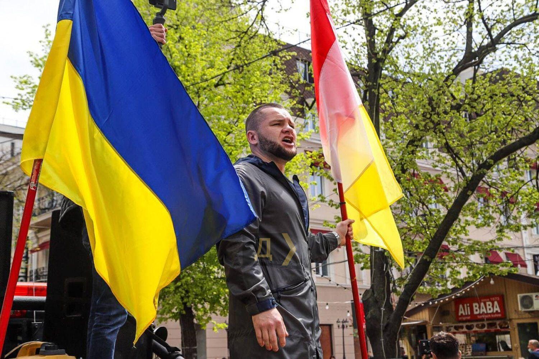 В Одессе состоялся марш защитников Одессы