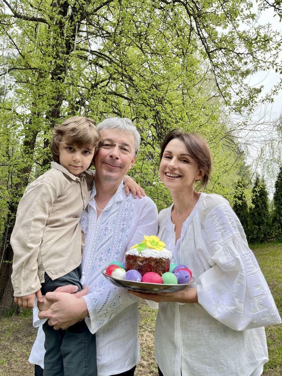 Олександр Ткаченко з родиною