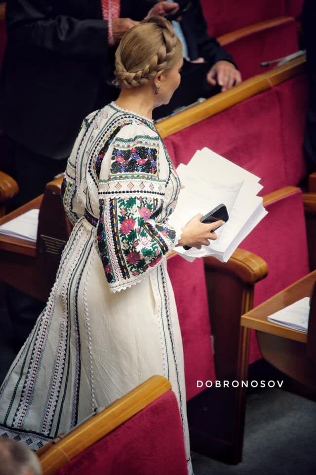 Тимошенко у вишиванці.