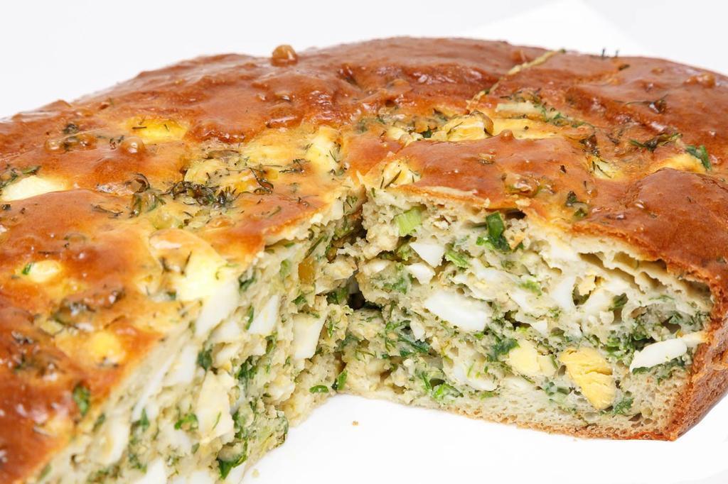 Пирог с цветной капустой и зеленью