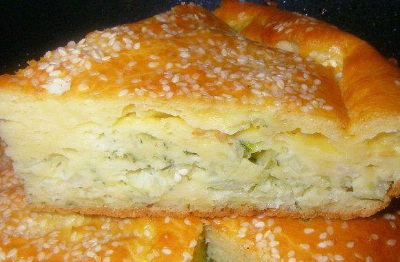 Пирог с капцтой на кефире