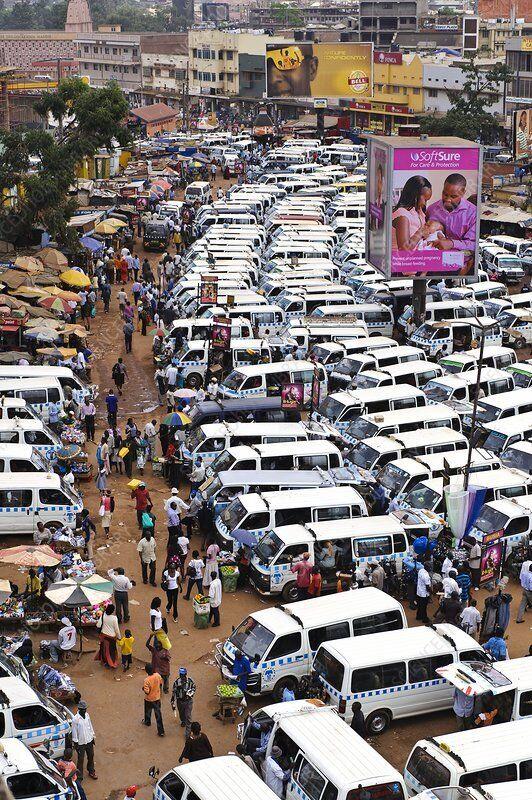 Так выглядит парк такси в Уганде.