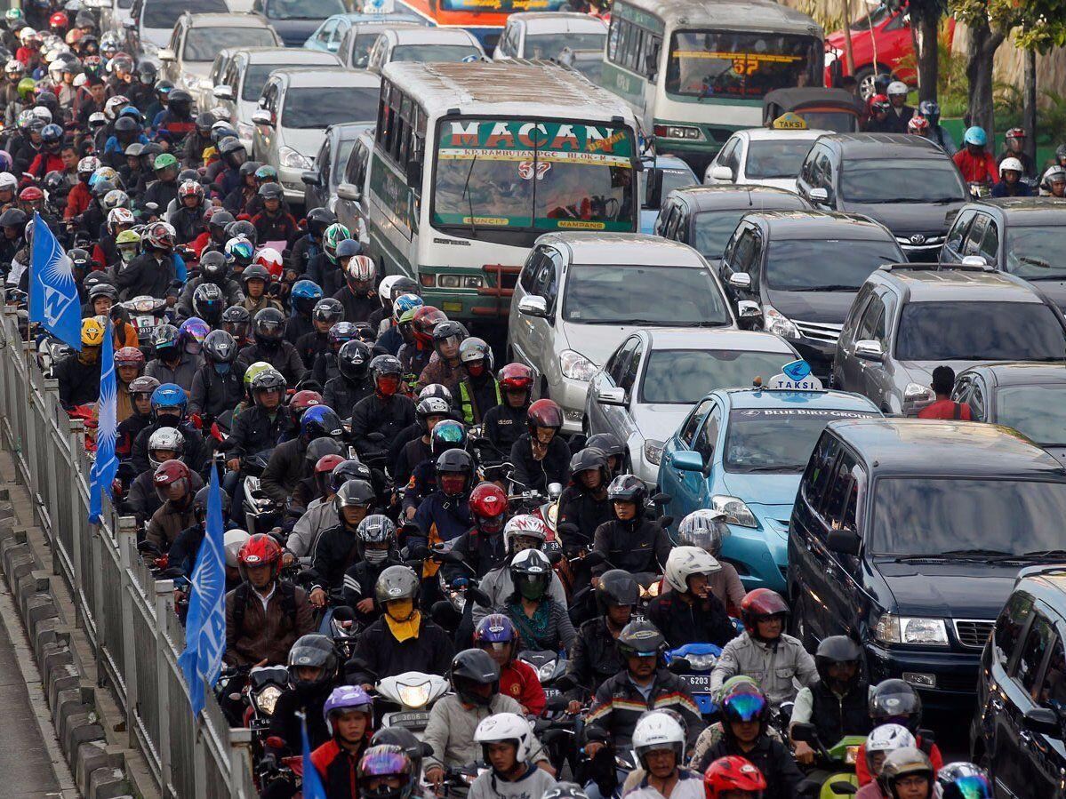 Индия славится самым загруженным трафиком в мире.