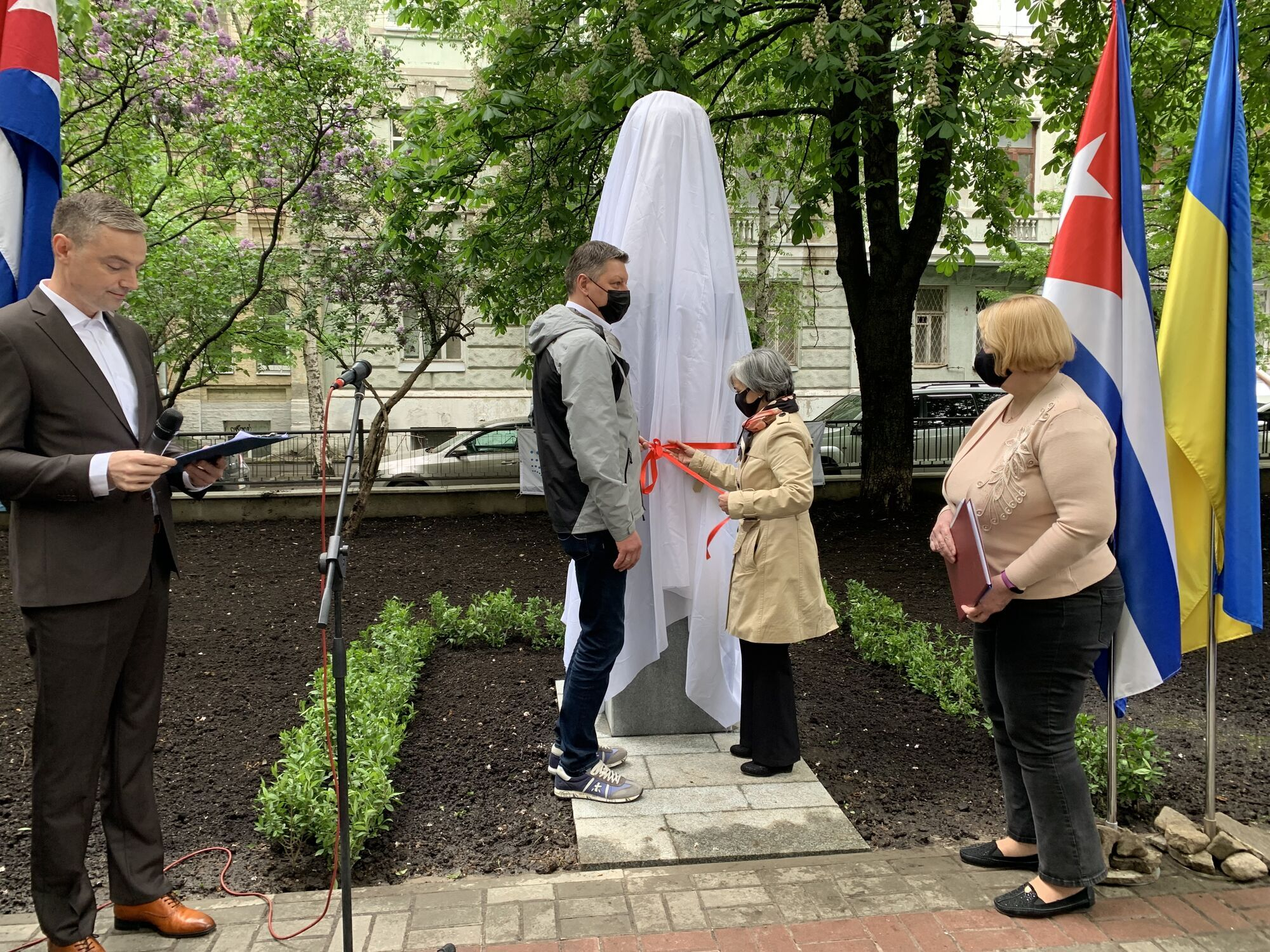 В Киеве открыли бюст в честь Хосе Марти.