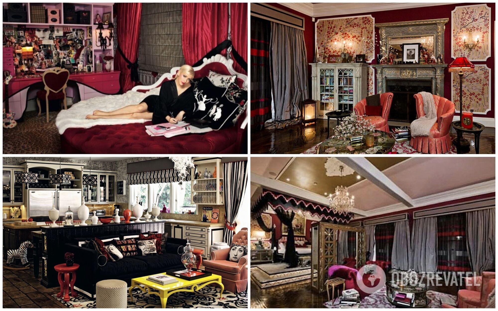 Безвкусным дом Агилеры делает напыщенность, элементы рококо и ампира