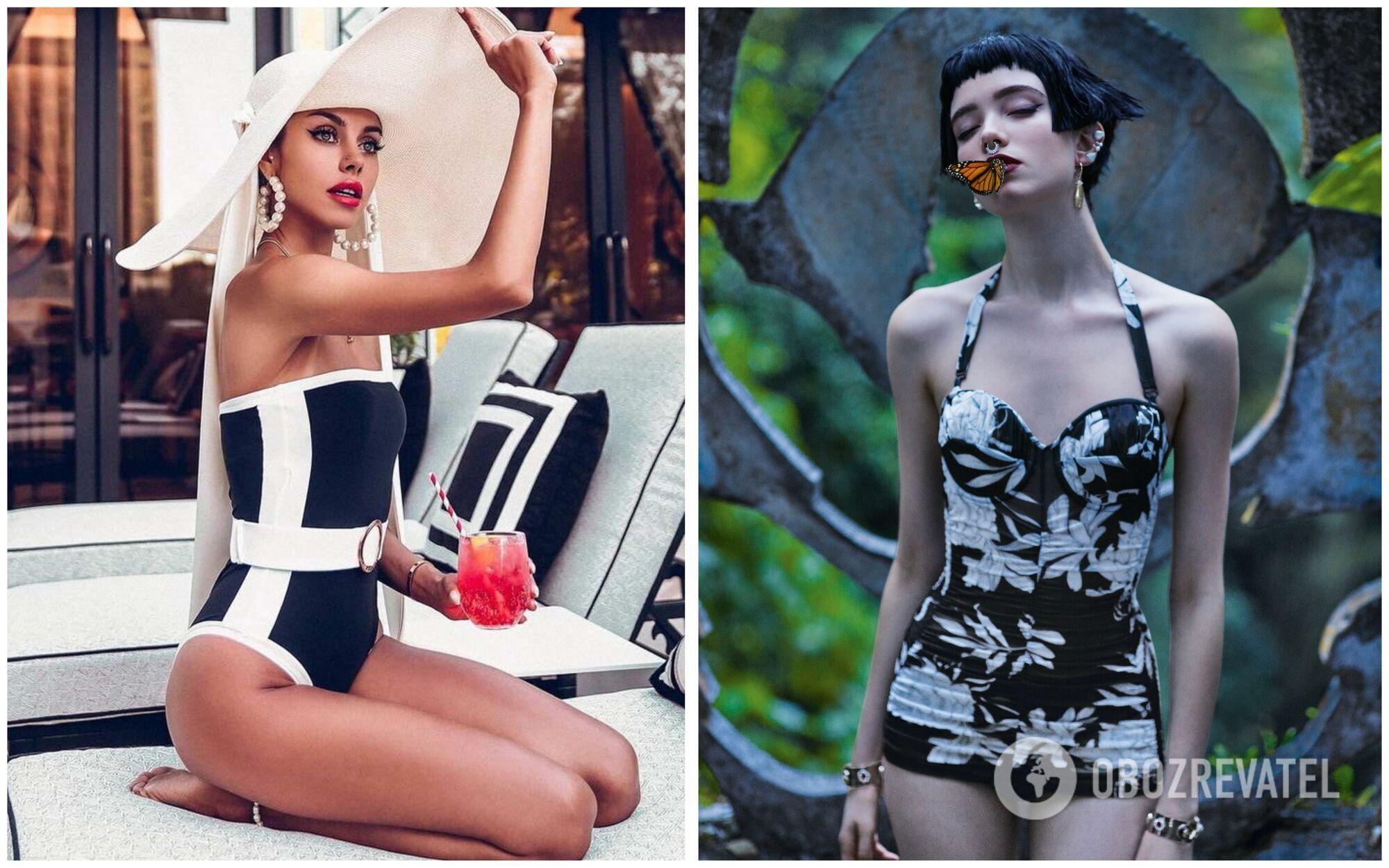 Как дань уважения ультра-женственным силуэтам 50-х годов, на пике популярности снова оказались цельные купальники