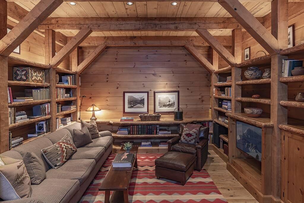 Комфортная читальня в особняке Тома Круза