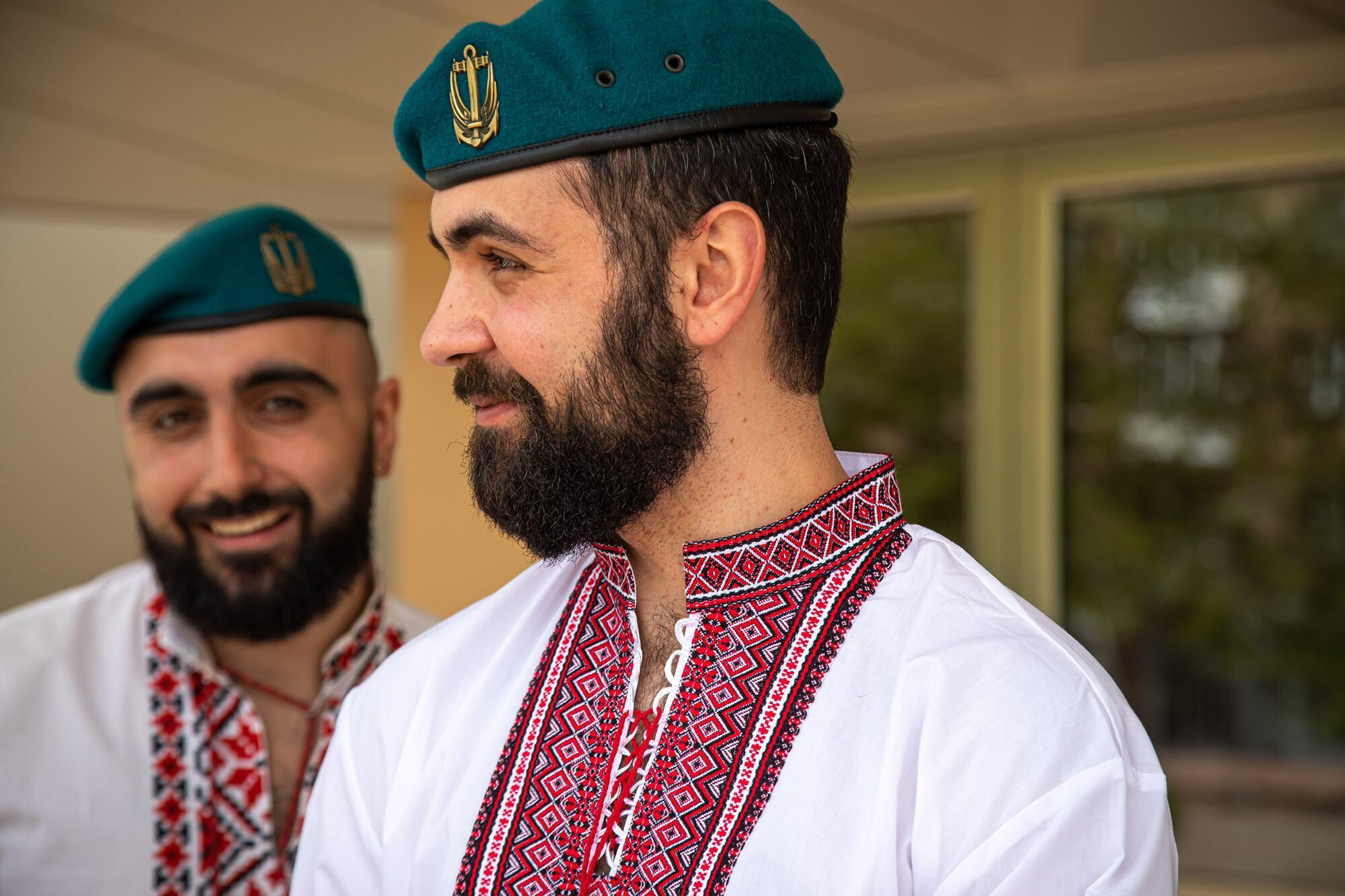 Морские пехотинцы ВСУ присоединились к празднованию Дня вышиванки