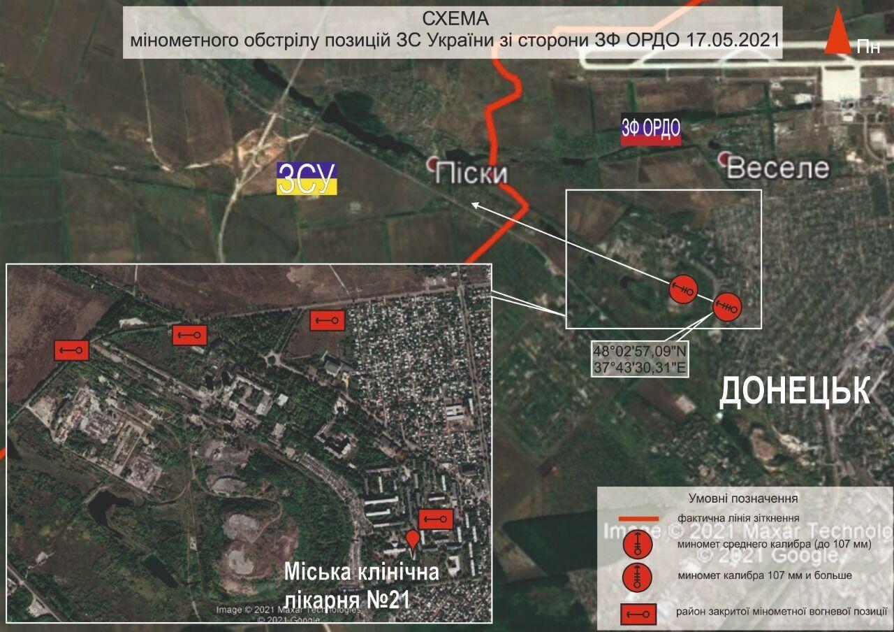 Водночас ОБСЄ фіксує факти використання найманцями РФ практики ведення провокаційного вогню з житлових кварталів населених пунктів на Донбасі