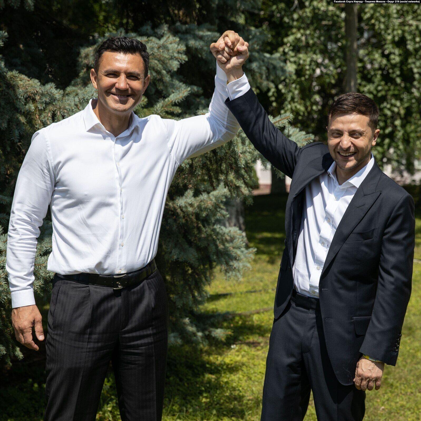 Зеленский и Тищенко в Киеве