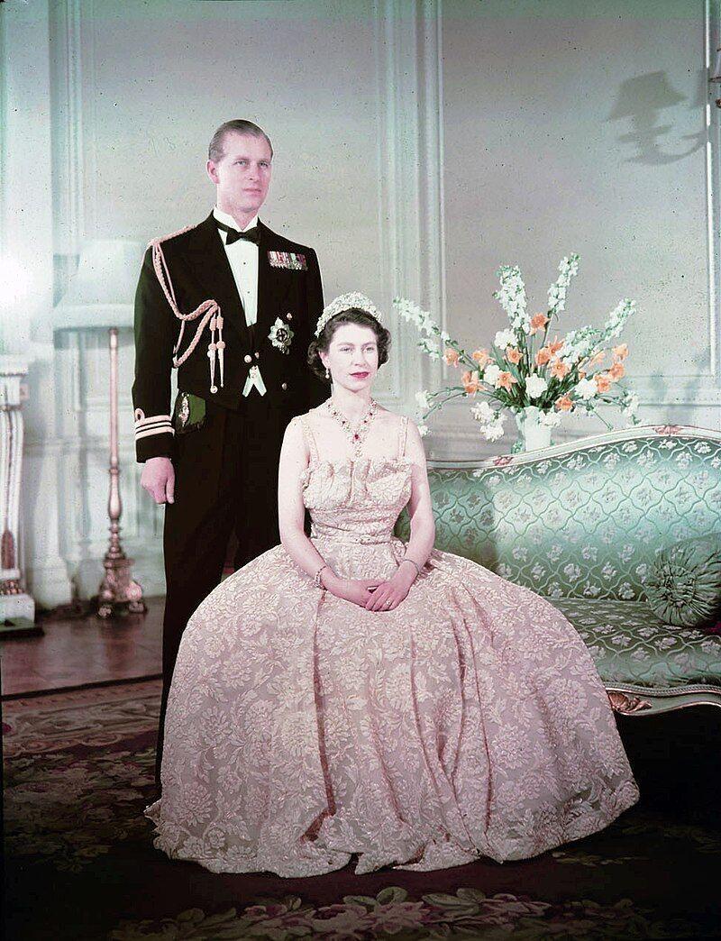 Принцесса Елизавета и герцог Эдинбургский Филипп в 1950 году