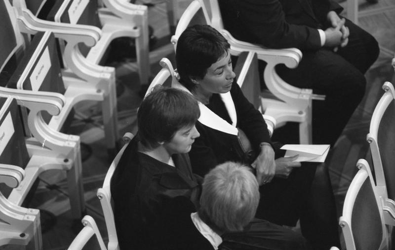 Меркель с немецкими политиками, апрель 1991 года.