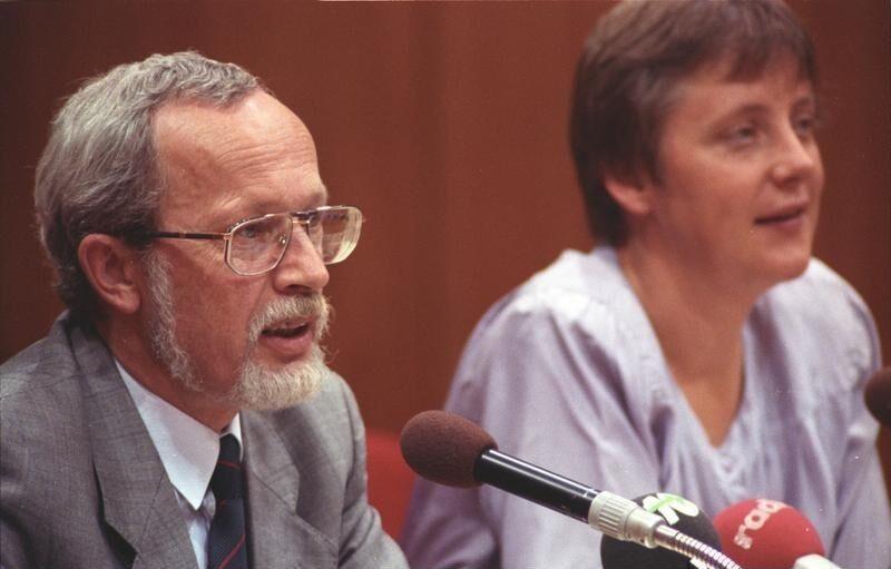 С последним премьер-министром ГДР Лотаром де Мезьером, август 1990 года