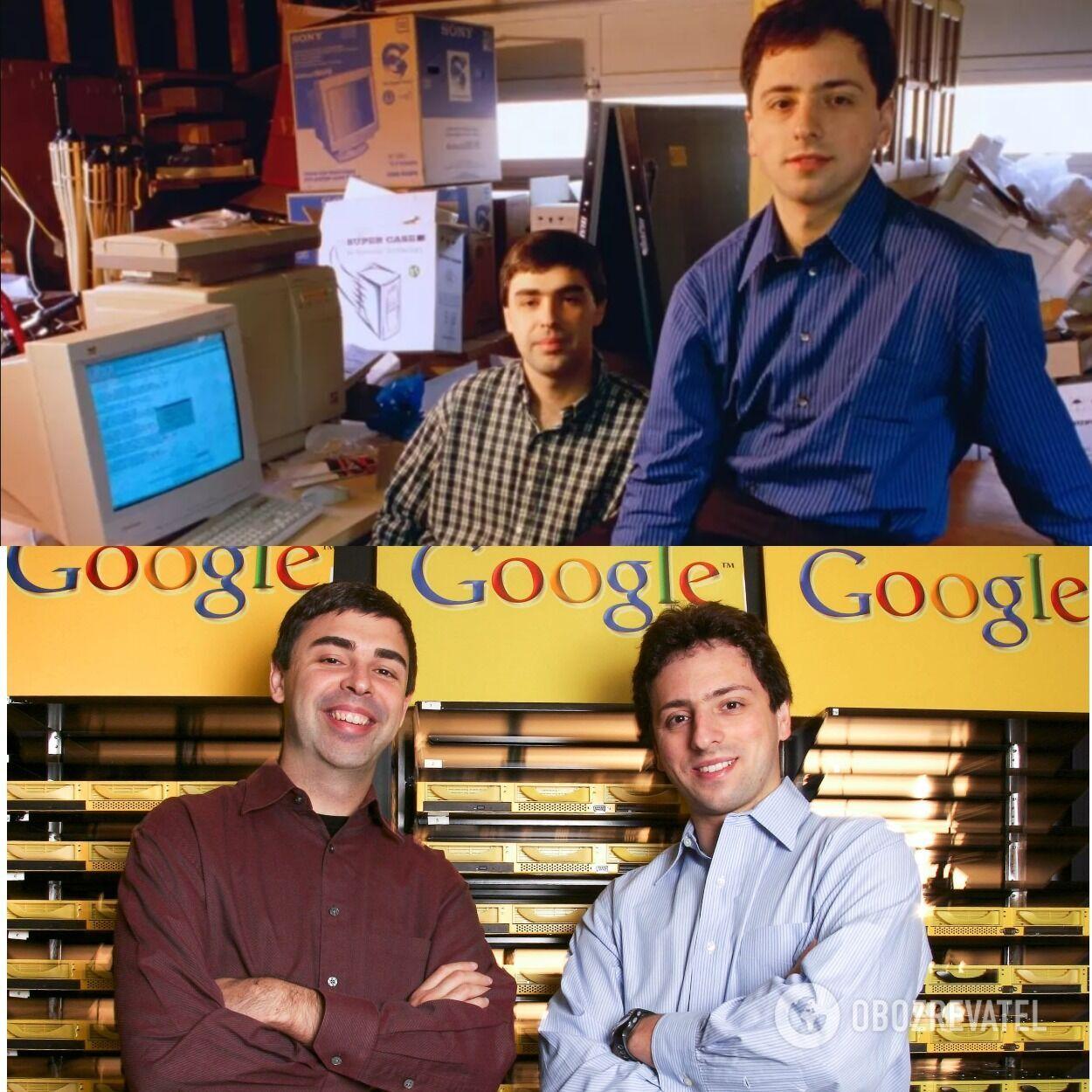 Ларрі Пейдж і Сергій Брін придумали Google в каліфорнійському гаражі в 1998 році.