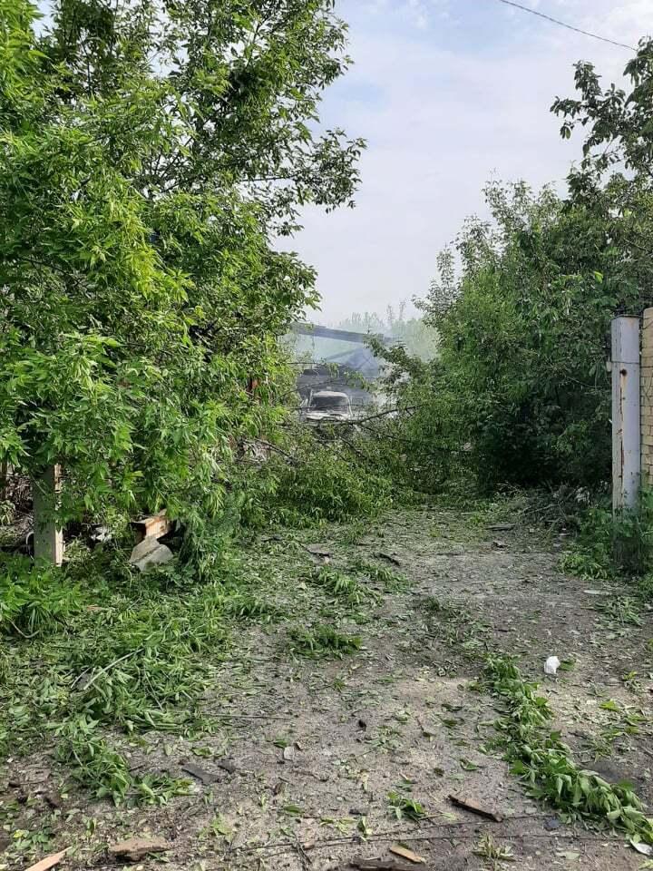 От обстрела пострадали деревья.