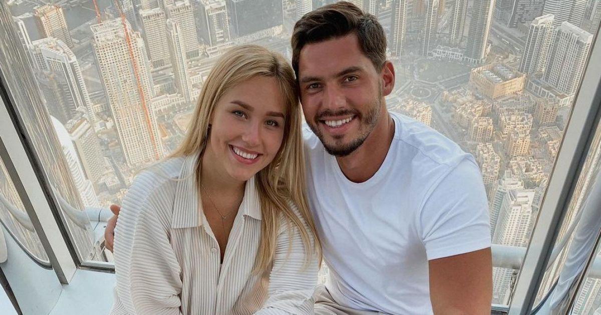 Даша Квиткова с мужем.