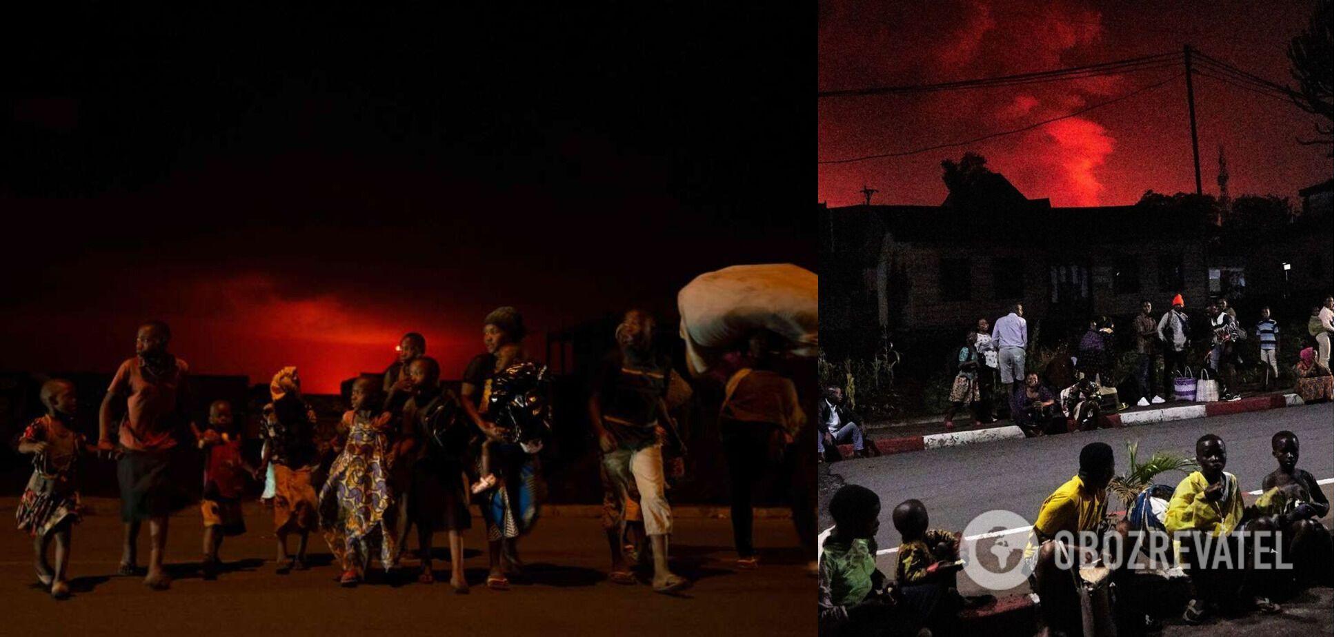 Люди почали тікати з міста через виверження вулкана