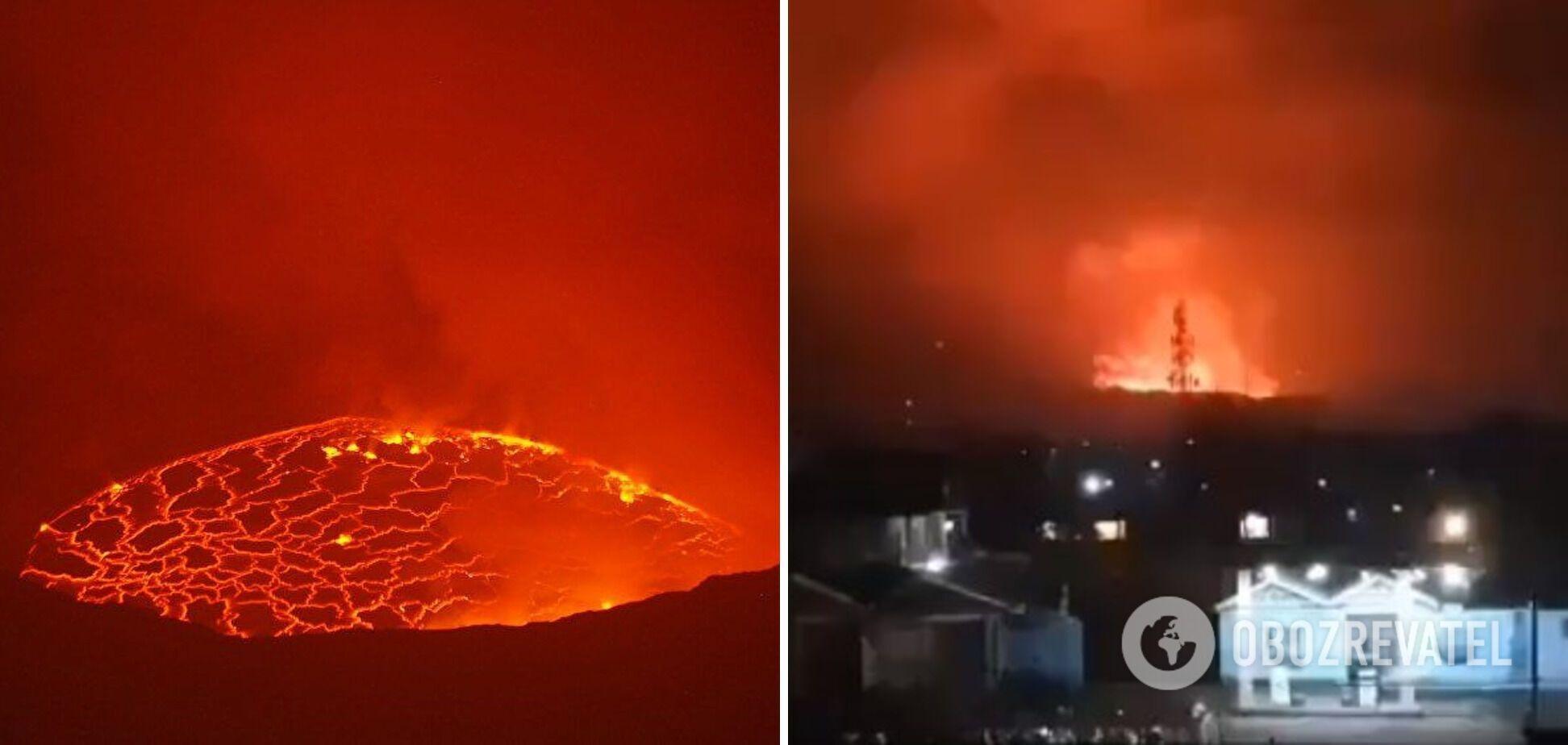 В Конго разбушевался вулкан Ньирагонго