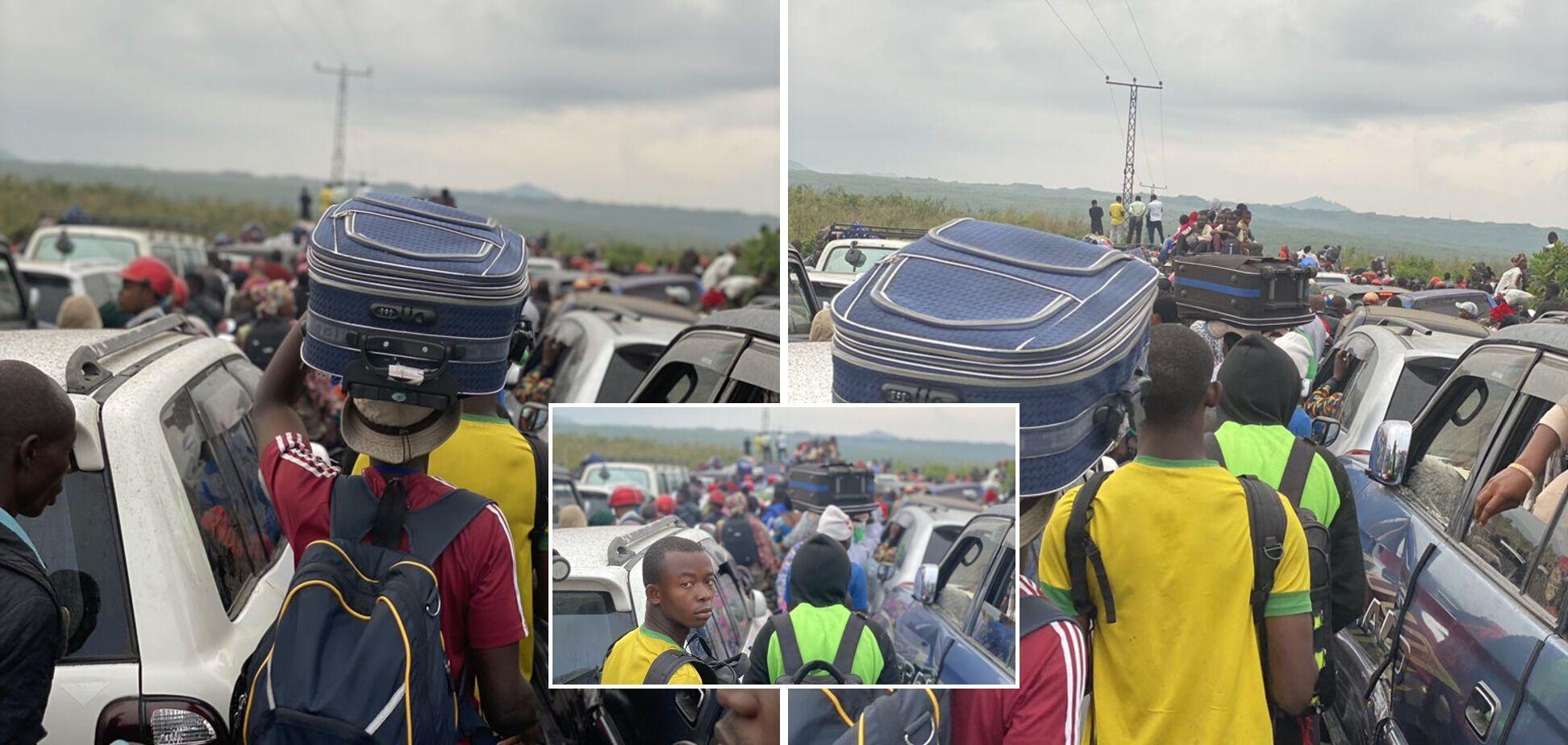 Евакуація жителів міста Гома