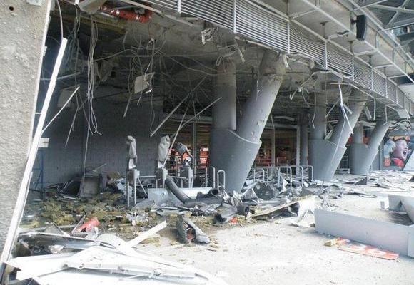 Дві бомби потрапили на стадіон